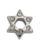 Jewish Star - Silver & CZ Charm